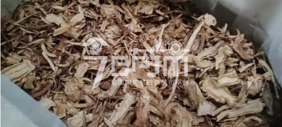 岷县药材市场39.1元/kg成交的当归全归片